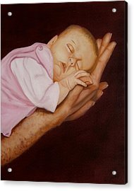 Acrylic Print featuring the painting Daddy's Little Girl by Joni McPherson