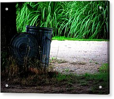 Daddy's Trash Can Acrylic Print