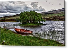 Acrylic Print featuring the painting Dads Fishing Spot P D P by David Dehner