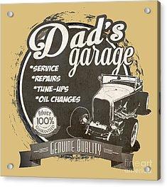 Dad's Garage-1932 Ford Acrylic Print by Paul Kuras