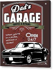Dad's Garage-service And Repairs Acrylic Print by Paul Kuras