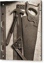 Dad's Old Tools Acrylic Print by Tony Ramos