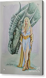 Daenerys Targaryen - Game Of Thrones Acrylic Print