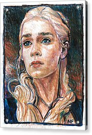Daenerys Targaryen - Mother Of Dragons Acrylic Print by Neil Feigeles
