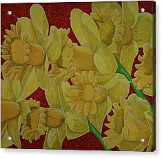 Acrylic Print featuring the painting Daffodil Grandiflora by Paul Amaranto