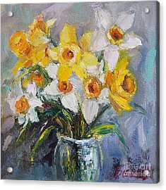 Daffodil In Spring  Acrylic Print by Jennifer Beaudet