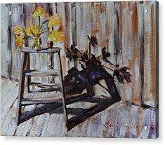 Daffodil Shadows Acrylic Print by Carol Berning