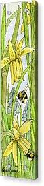 Daffodils And Bees Acrylic Print