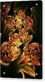 Daffodils Acrylic Print by Digital Art Cafe
