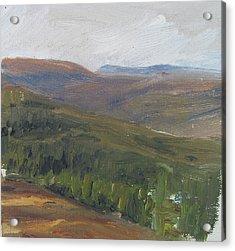 Dagrar Over Salenfjallen - Shifting Daylight Over Distant Horizon 1 Of 10_0034 50x50 Cm Acrylic Print