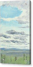 Dagrar Over Salenfjallen- Shifting Daylight Over Distant Horizon 10 Of 10_0029 Acrylic Print
