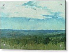Dagrar Over Salenfjallen- Shifting Daylight Over Distant Horizon 7 Of 10_0029 Acrylic Print