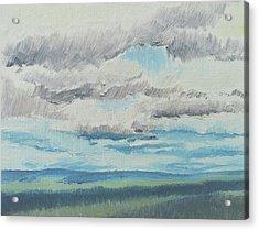 Dagrar Over Salenfjallen- Shifting Daylight Over Distant Horizon 8 Of 10_0029 Acrylic Print