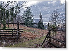 Dahlgren Chapel Winter Scene Acrylic Print