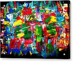 .....dah...trip........wow... Acrylic Print by Adolfo hector Penas alvarado