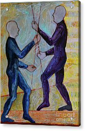 Acrylic Print featuring the painting Daily Balancing by Priti Lathia
