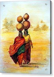 Daily Desert Dance Acrylic Print by Alika Kumar