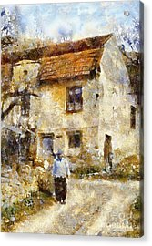 Daily Walk Acrylic Print by Shirley Stalter
