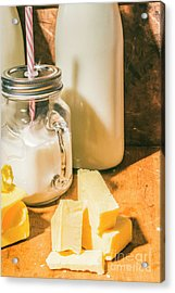 Dairy Farm Products Acrylic Print by Jorgo Photography - Wall Art Gallery