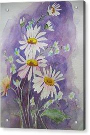 Daisey Bouquet Acrylic Print