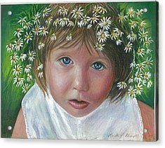 Daisies In My Hair Acrylic Print