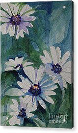 Daisies In The Blue Acrylic Print by Gretchen Bjornson