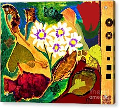 Daisies In The Medow Acrylic Print