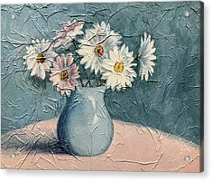 Daisies Acrylic Print by Janet King