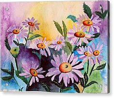 Daisies Acrylic Print by Mary Gaines