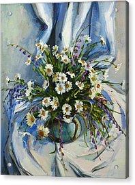 Daisies Acrylic Print by Tigran Ghulyan