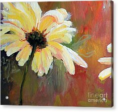 Acrylic Print featuring the painting Daisy 1 Of 3 Triptych by Susan Fisher