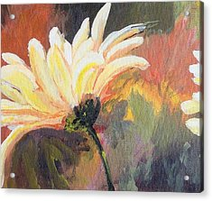 Acrylic Print featuring the painting Daisy 2 Of 3 Triptych by Susan Fisher