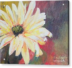 Acrylic Print featuring the painting Daisy 3 Of 3 Triptych by Susan Fisher