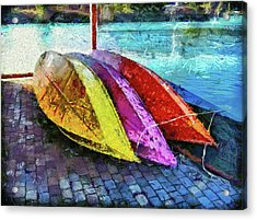 Acrylic Print featuring the photograph Daisy And The Rowboats by Thom Zehrfeld