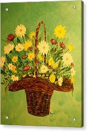 Daisy Acrylic Print by Barbara Hayes