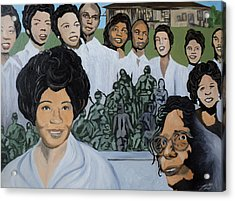 Daisy Bates And The Little Rock Nine Tribute Acrylic Print by Angelo Thomas