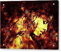 Daisy Chain In Dawn Acrylic Print