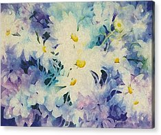 Daisy-chain Acrylic Print by Nancy Newman