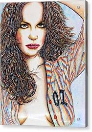 Daisy Duke Acrylic Print by Joseph Lawrence Vasile