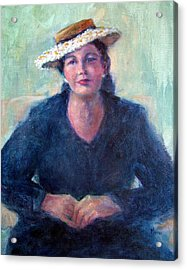 Daisy Hat Acrylic Print