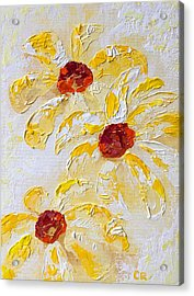 Acrylic Print featuring the painting Daisy Trio by Chris Rice