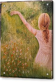 Daisying Around Acrylic Print by Hermi Zumbado