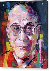 Dalai Lama Acrylic Print by Richard Day