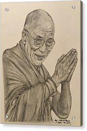 Dalai Lama Tenzin Gyatso Acrylic Print by Kent Chua