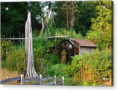 Dalby Waterwheel Acrylic Print by Mark Bowmer