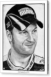 Dale Earnhardt Jr In 2009 Acrylic Print by J McCombie