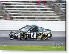 Dale Earnhardt Jr Running Hard At Texas Motor Speedway Acrylic Print