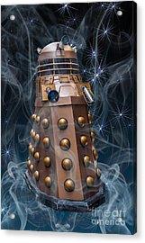 Dalek Acrylic Print by Steve Purnell