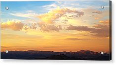 Dali's Sky Acrylic Print by Mike Hill