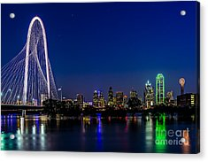 Dallas At Night Acrylic Print